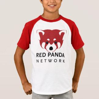 Camiseta Panda roja T del estilo del vintage de la juventud