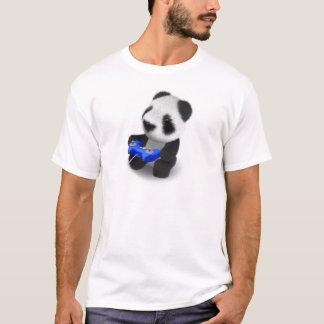Camiseta panda Videogamer del bebé 3d