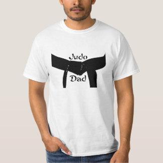 Camiseta Papá del judo de la correa negra de los artes