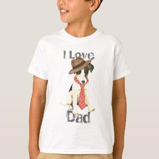 Camiseta Papá liso del fox terrier