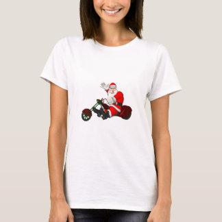 Camiseta Papá Noel en el motor Trike