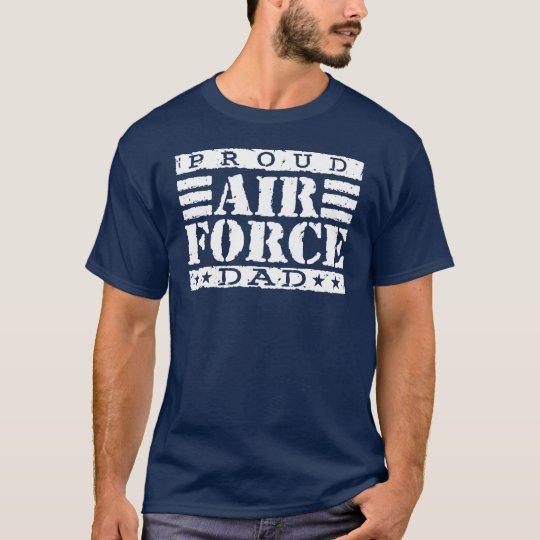 Camiseta Papá orgulloso de la fuerza aérea