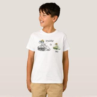 Camiseta Papá y yo búho de la batalla del tanque