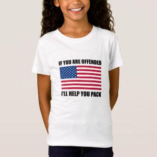 Camiseta Paquete ofendido de la ayuda de la bandera de los
