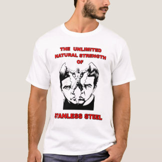 Camiseta para hombre de acero de Stanless