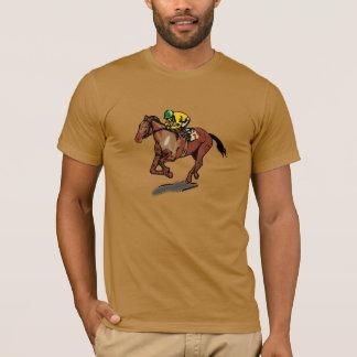 Camiseta para hombre de la carrera de caballos