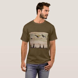 Camiseta para hombre de la montaña de Sandie G
