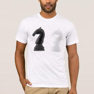 Camiseta para hombre de los pedazos de ajedrez del
