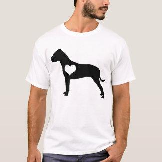 Camiseta para hombre de pitbull del corazón