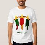 Camiseta para hombre de tres pimientos picantes