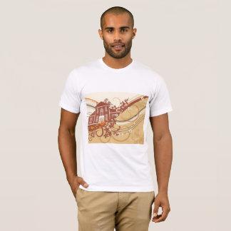 Camiseta para hombre del arte de la casa