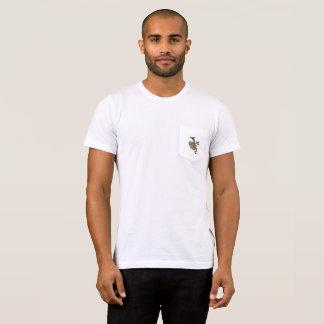 Camiseta para hombre del bolsillo de la pereza