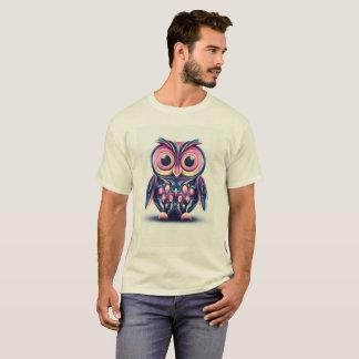 Camiseta para hombre del búho abstracto