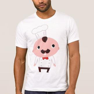 Camiseta para hombre del cocinero del dibujo