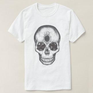 Camiseta para hombre del cráneo del trabajo del