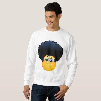 camiseta para hombre del emoji afro