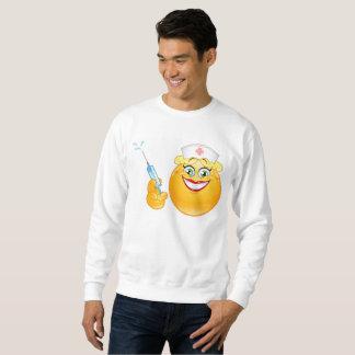 camiseta para hombre del emoji de la enfermera