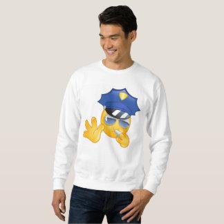 camiseta para hombre del emoji de la policía
