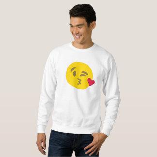 camiseta para hombre del emoji del beso