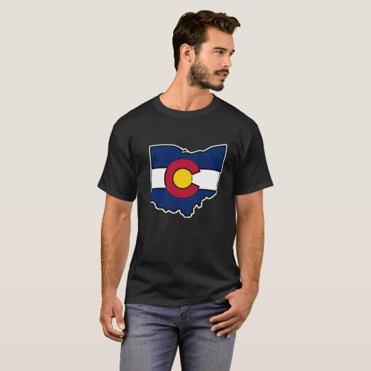 Camiseta para hombre del esquema de Ohio de la