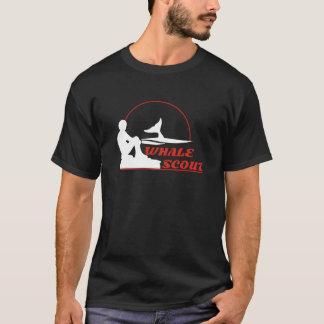 Camiseta para hombre del explorador de la ballena