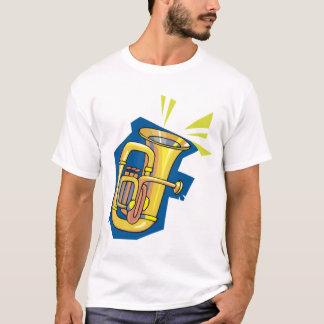 Camiseta para hombre del instrumento de la tuba
