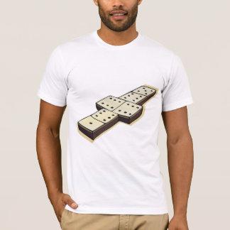 Camiseta para hombre del juego de los dominós