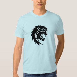 Camiseta para hombre del león del rugido