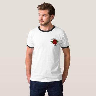 Camiseta para hombre del logotipo criminal liso