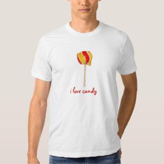 Camiseta para hombre del polo del caramelo