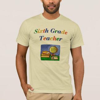 Camiseta para hombre del sexto profesor del grado