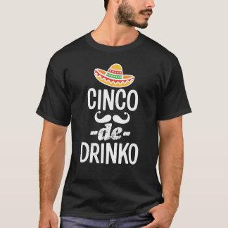 Camiseta para hombre divertida de Cinco De Drinko