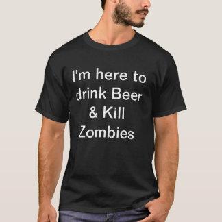 Camiseta Para hombre estoy aquí beber a zombis de la