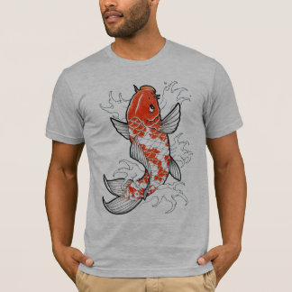 Camiseta para hombre gris semi cabida tímida de