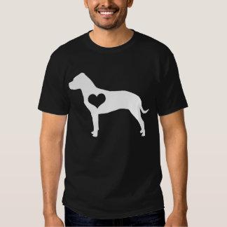 Camiseta para hombre oscura de pitbull del corazón