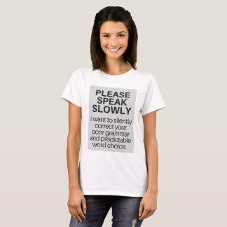 Camiseta para los escritores presumidos por todas
