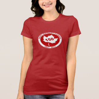 Camiseta para mujer de Canadá del feliz cumpleaños