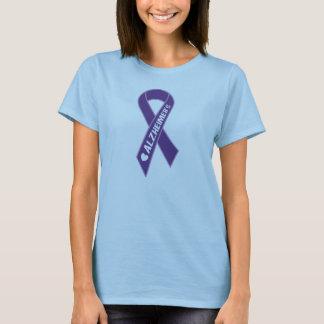 Camiseta para mujer de la cinta púrpura de
