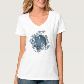 Camiseta para mujer de la fantasía del Grunge azul