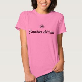 Camiseta para mujer de la hawaiana de la práctica