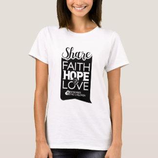 Camiseta para mujer de la parte (blanca)