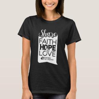 Camiseta para mujer de la parte (negro)