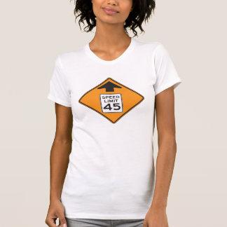 Camiseta para mujer de la señal de tráfico del