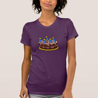 Camiseta para mujer de la torta de cumpleaños