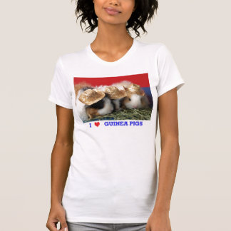 Camiseta para mujer de los conejillos de Indias