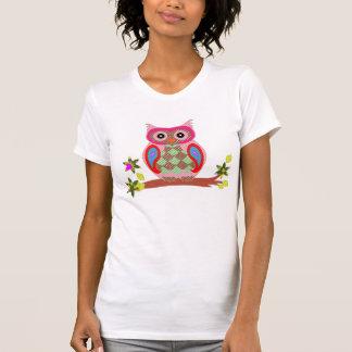 Camiseta para mujer decorativa del remiendo colori