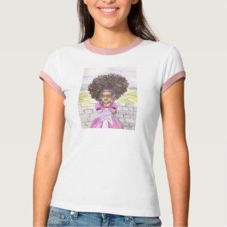 Camiseta para mujer del Afro de Rapunzel con