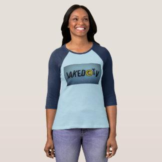 Camiseta para mujer del béisbol de JakedTV 3/4