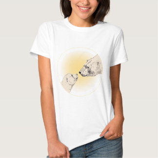 Camiseta para mujer del beso del oso polar