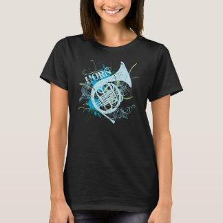 Camiseta para mujer del Grunge del cuerno
